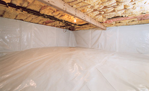 Crawl Space Moisture Barrier After in Ithaca