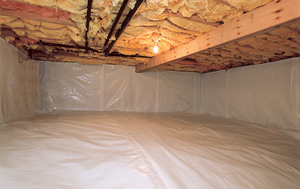 CleanSpace® vapor barrier after in Ithaca
