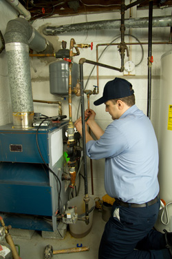 Furnace service performed by expert HVAC contractor in Ithaca