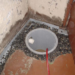 Installing a sump in a sump pump liner in a Syracuse home