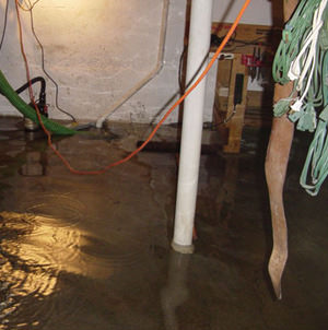 Foundation flooding in a Cortland,New York home