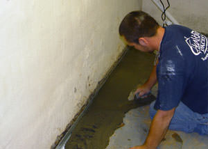 Restoring a concrete slab floor in The Finger Lakes.