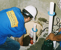 installing a sump pump and backup sump pump system in East Rochester, NY